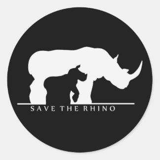 Save The Rhino Classic Round Sticker