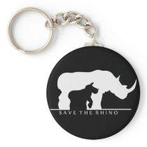 Save The Rhino Keychain