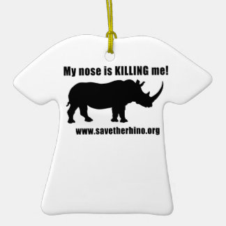 Save the Rhino Ceramic T-Shirt Decoration