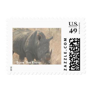 Save The Rhino Postage Stamp