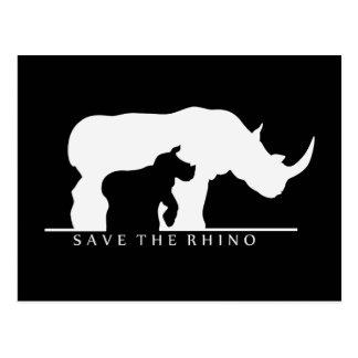 Save The Rhino Postcard
