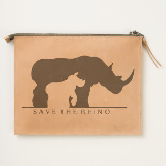 Save the Rhino Travel Pouch