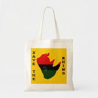 Save the Rhino w/ Africa Tear Yellow Tote Bag