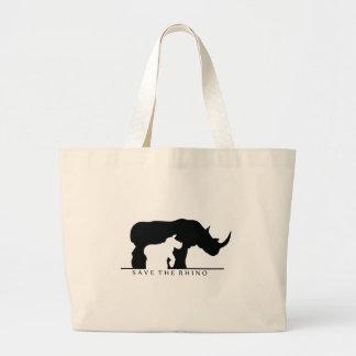 Save The Rhino (white ver.) Tote Bag