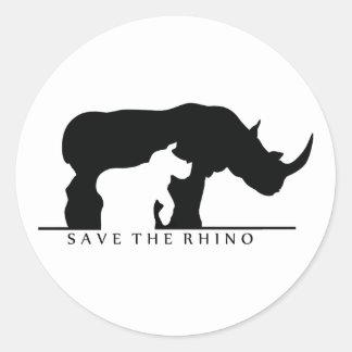 Save The Rhino white ver Sticker