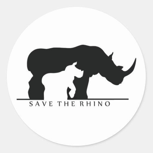 Save The Rhino (white ver.) Sticker