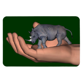 Save The Rhinos ! Rectangular Photo Magnet