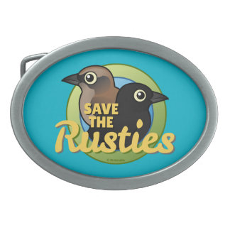 Save the Rusties Oval Belt Buckle