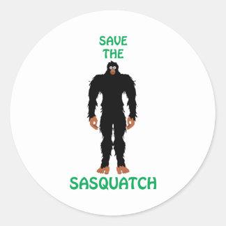 SAVE THE SASQUATCH CLASSIC ROUND STICKER