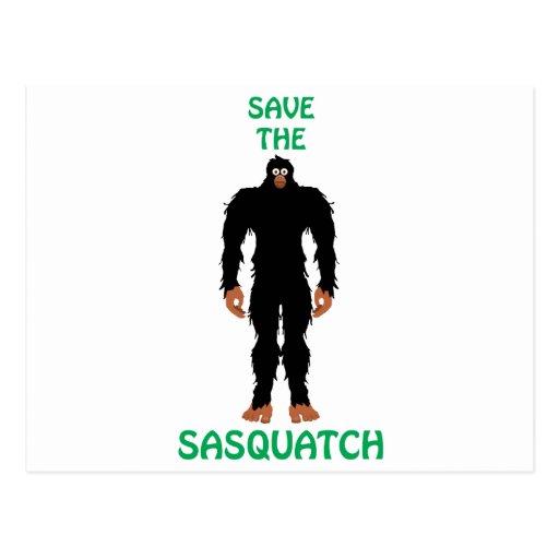 SAVE THE SASQUATCH POSTCARD