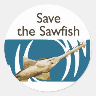 Save the Sawfish Classic Round Sticker