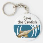 Save The Sawfish keychain