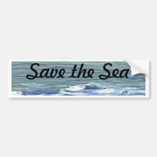 Save the Sea Bumper Sticker CricketDiane Ocean Art
