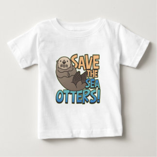 Save The Sea Otters Baby T-Shirt