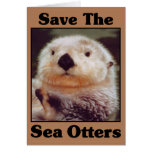 Save the Sea Otters Greeting Cards