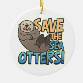 Save the Sea Otters Holiday Ornament