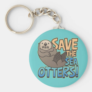 Save The Sea Otters Keychains