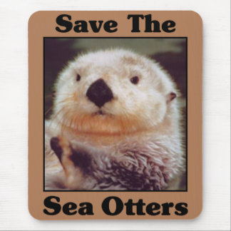 Save the Sea Otters Mouse Pad