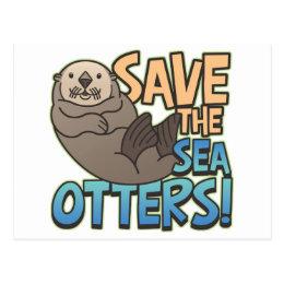 Save The Sea Otters Postcard