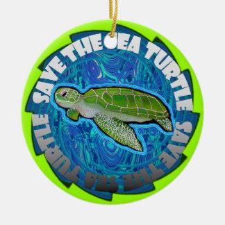 Save The Sea Turtle Ornament