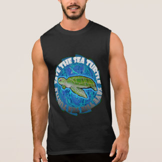 Save The Sea Turtle Sleeveless Shirt