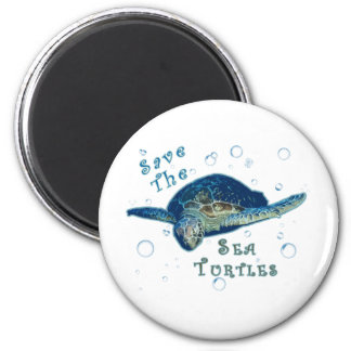 Save The Sea Turtles 2 Inch Round Magnet