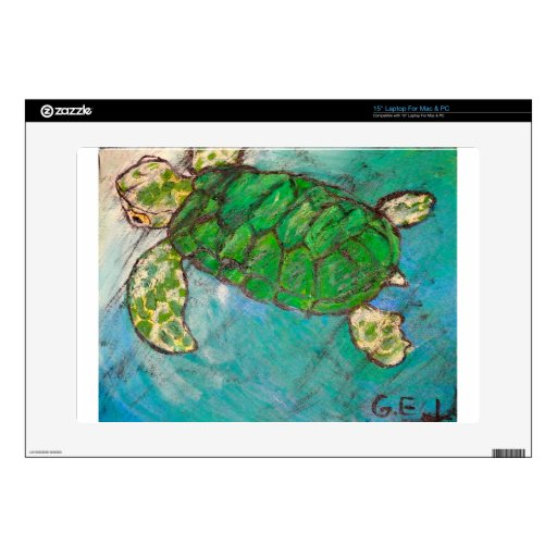 Save The Sea Turtle's Decals For Laptops