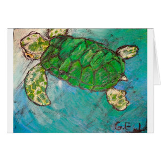 Save The Sea Turtle's Greeting Cards