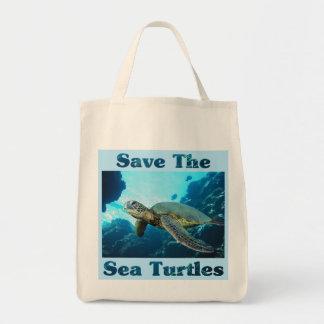 Save the Sea Turtles Grocery Tote Bag