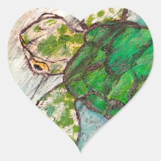 Save The Sea Turtle's Heart Sticker