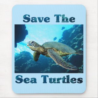Save the Sea Turtles Mouse Pad