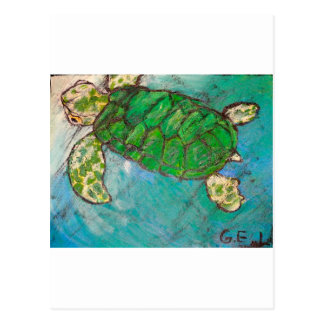 Save The Sea Turtle's Post Card