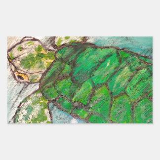 Save The Sea Turtle's Rectangular Sticker