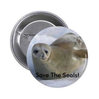 Save The Seals! Button