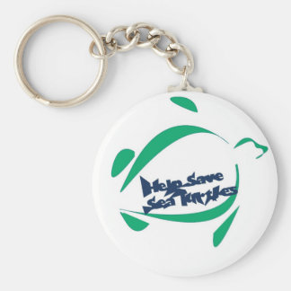 save the seat turtles keychain