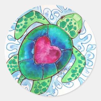 Save the SEATURTLES ♥ Classic Round Sticker
