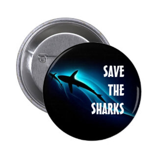 Save The Sharks Pinback Button
