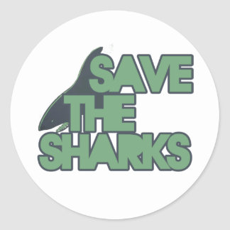 Save the Sharks Classic Round Sticker