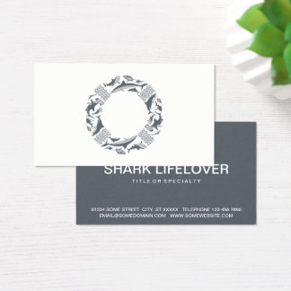 Save the Sharks Lifesaver Business Card