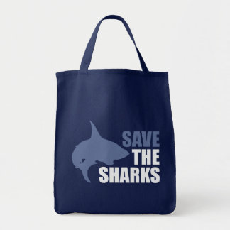Save The Sharks, Save The Fins Grocery Tote Bag