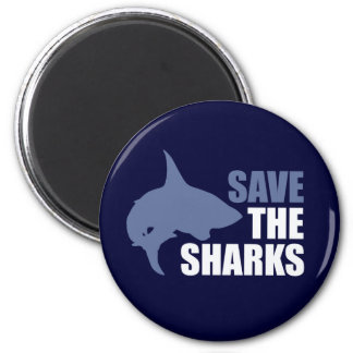 Save The Sharks, Save The Fins 2 Inch Round Magnet
