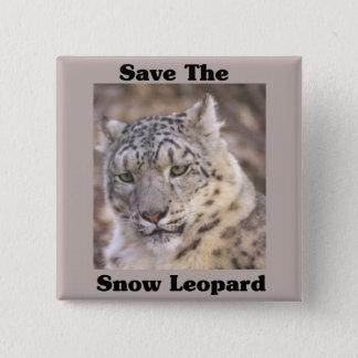 Save the Snow Leopard Pinback Button
