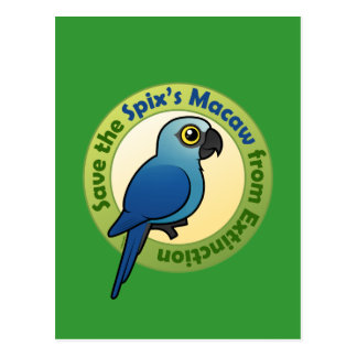 Save the Spix's Macaw from Extinction Postcard