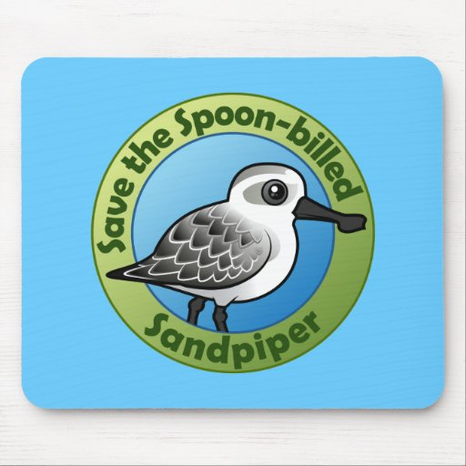 Save the Spoon-billed Sandpiper Mouse Pad