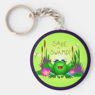 Save the Swamp Beulah the Frog Wetlands Keychain