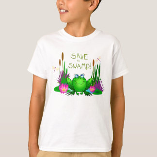 Save the Swamp Environmental Conservation Template T-Shirt