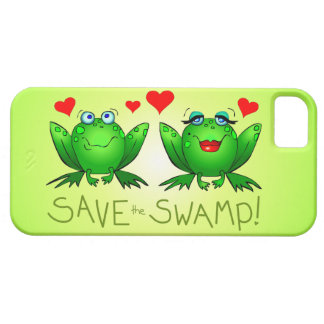 Save the Swamp Frog Love iPhone Case