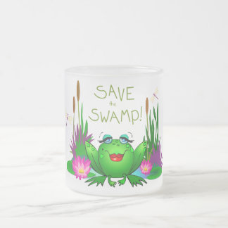 Save the Swamp Frosted Mug Beulah the Frog