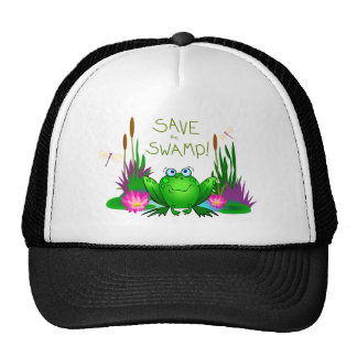 Save the Swamp Hat Twitchy the Frog