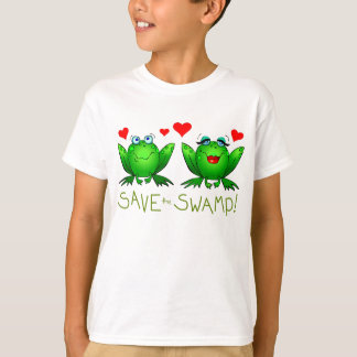 Save the Swamp Kids Environmental Template T-Shirt